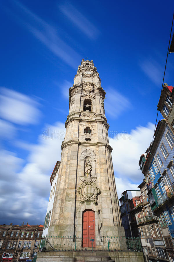 Clerigos Tower in Oporto city stock image