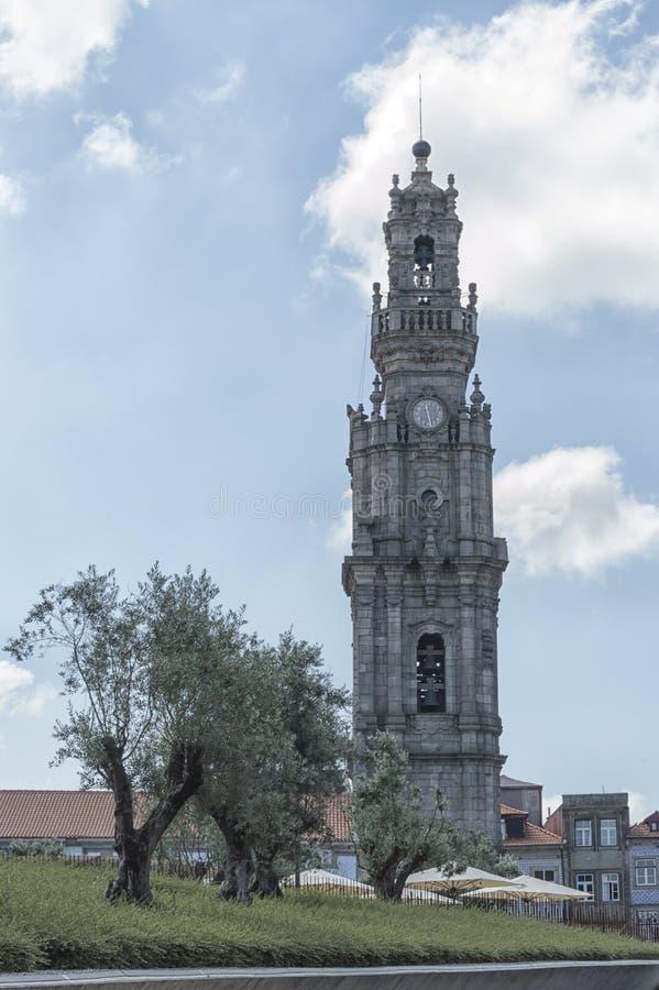 Clerigos Tower in Oporto royalty free stock photos