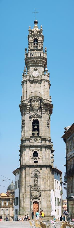 Clerigos wierza w Porto, Portugalia obrazy royalty free