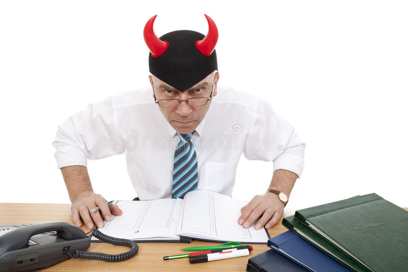 Download Clerk horned stock image. Image of humor, person, bespectacled - 19209745