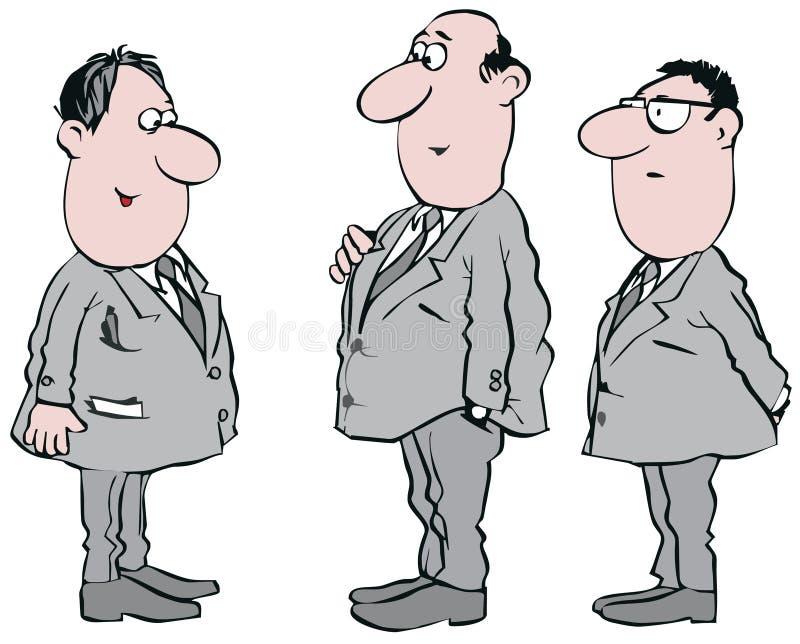 Clerks. Vector clip-art / funny illustration for your design royalty free illustration