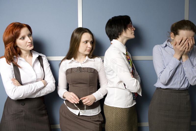 Download Clerks Console Their Colleague. Stock Image - Image: 11928093