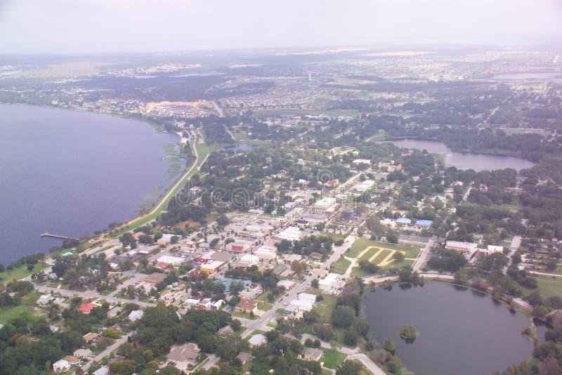 Clermont, vue aérienne du centre de la Floride. photos stock