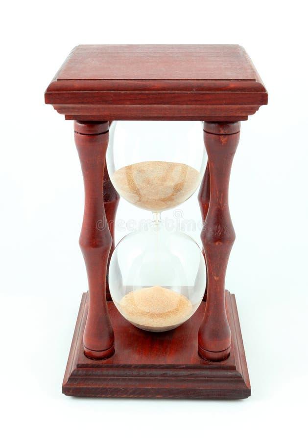 Clessidra, sandglass, temporizzatore della sabbia, orologio della sabbia sul whi fotografia stock
