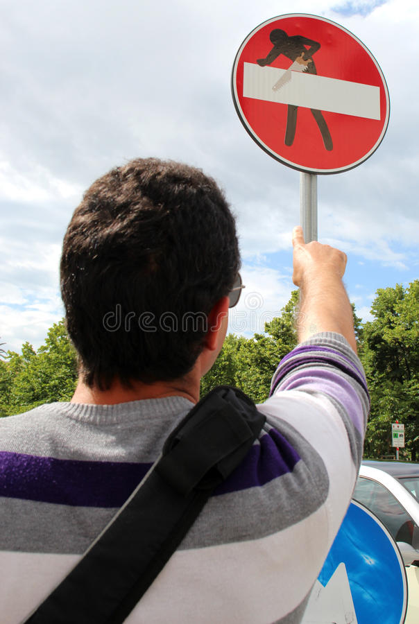 Clet Abraham report image royalty free stock photos