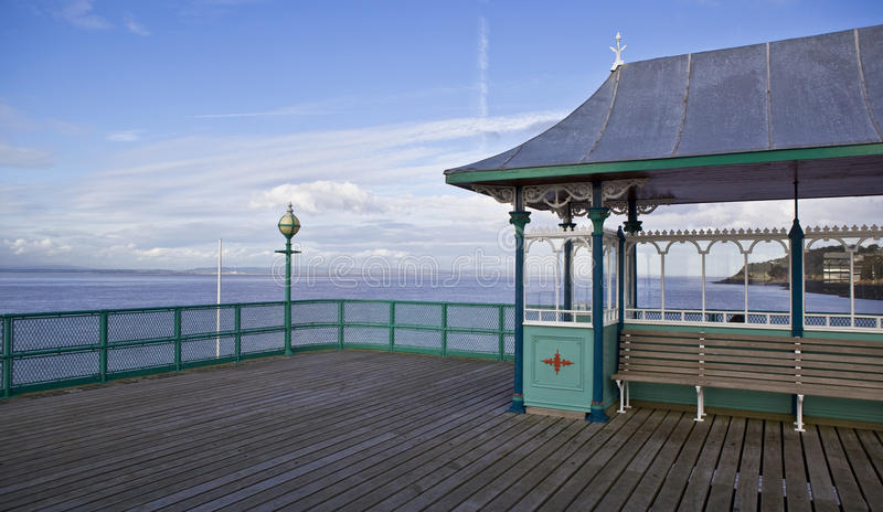Clevedon pier royalty free stock photography