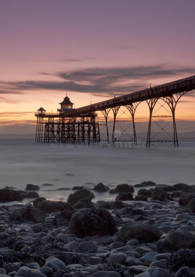 Free Clevedon Pier Sunset Stock Photography - 31992662