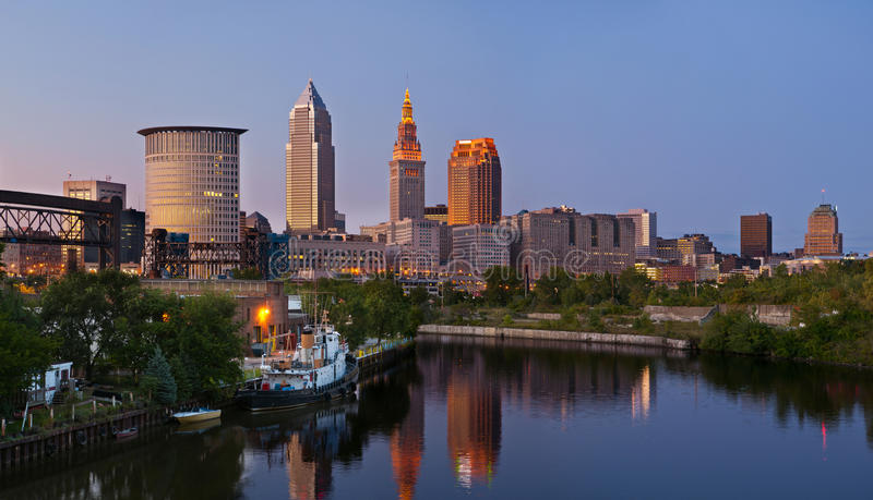 Download Cleveland stock photo. Image of destinations, riverbank - 21220572