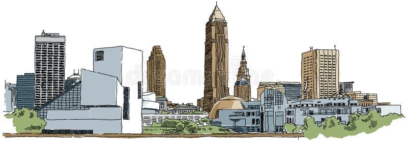 Cleveland ilustração royalty free