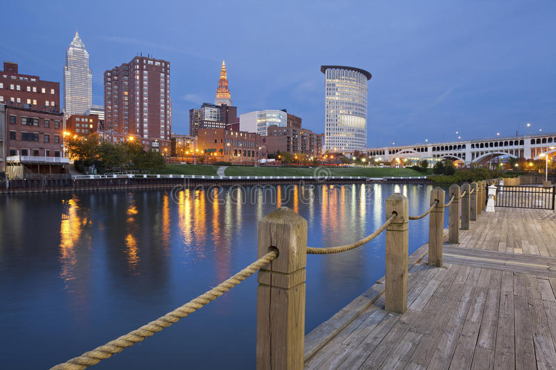 Download Cleveland. stock image. Image of scenic, dusk, architecture - 27207237