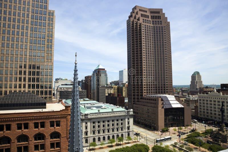 Cleveland aerea fotografia stock