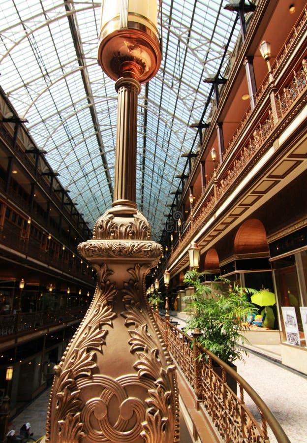Cleveland Arcade em Cleveland, Ohio imagem de stock