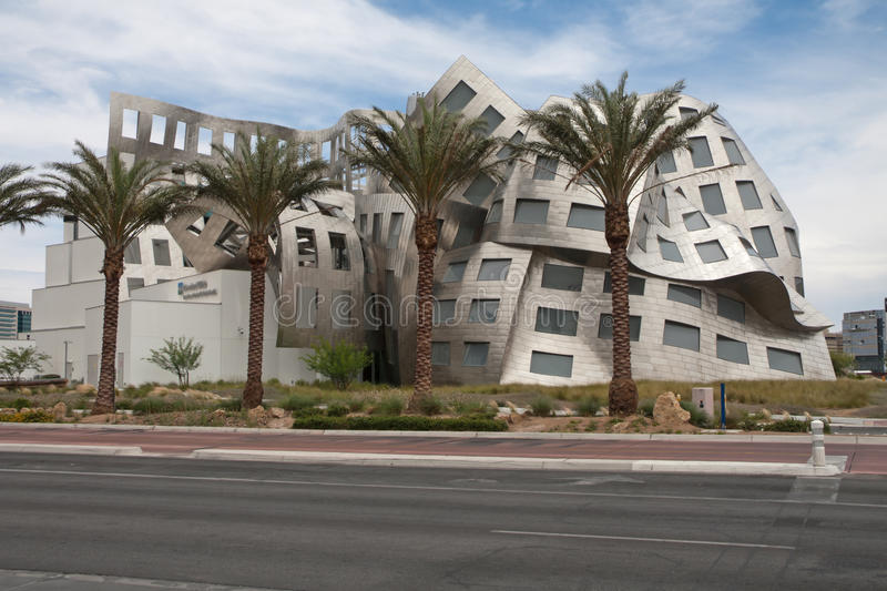 Cleveland brain clinic Frank Gehry Lou Ruvo Vegas. LAS VEGAS NEVADA - June 1: Modernist architect Frank Gehry's creation The Cleveland Clinic Lou Ruvo Center for royalty free stock photography