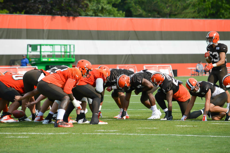 2017 Cleveland Browns NFL Training Camp stock photos