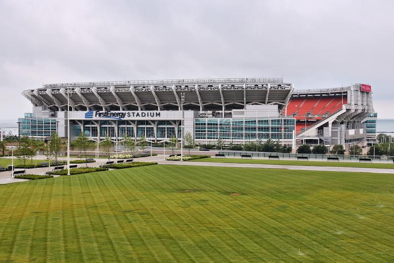 Cleveland Browns Stadium immagini stock