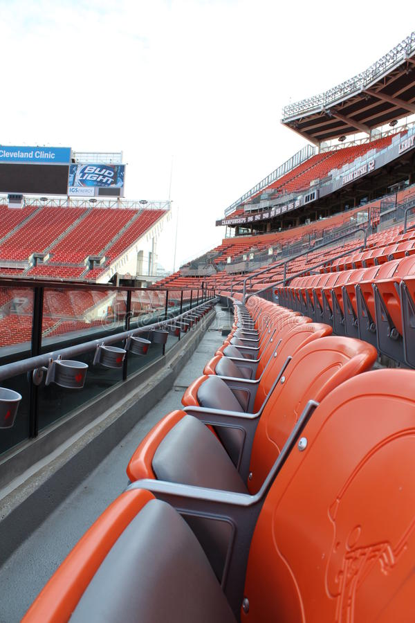 Cleveland Browns stadium seats. stock photography