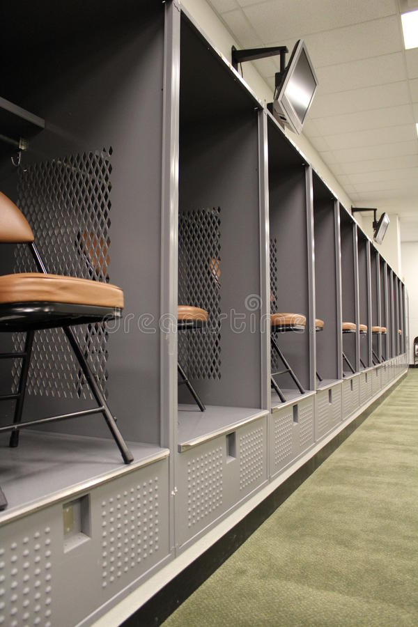 Cleveland Browns visitors locker room royalty free stock photography