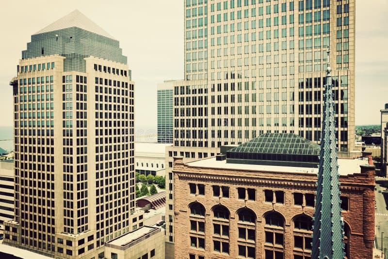 Cleveland céntrica foto de archivo