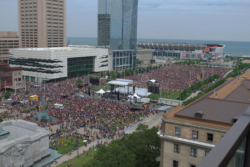 Cleveland Cavaliers Rally Zone photographie stock