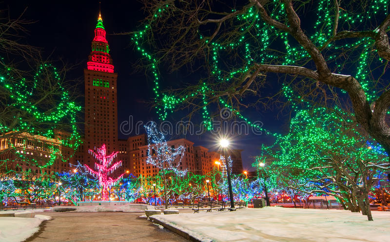 Cleveland Christmas fotos de archivo libres de regalías