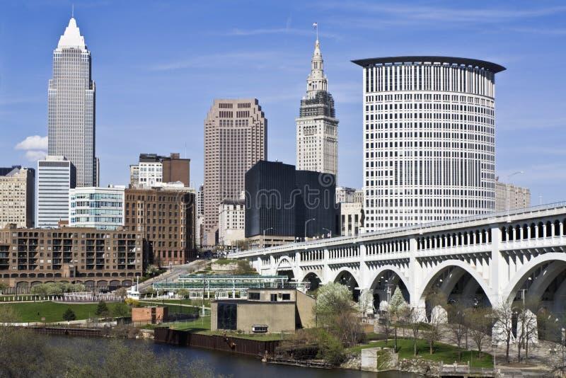 Cleveland da baixa foto de stock