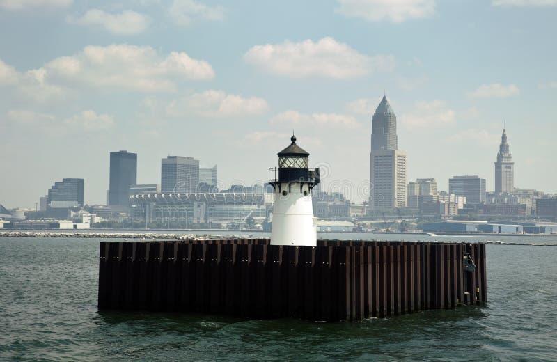 Cleveland del lago Erie fotografía de archivo