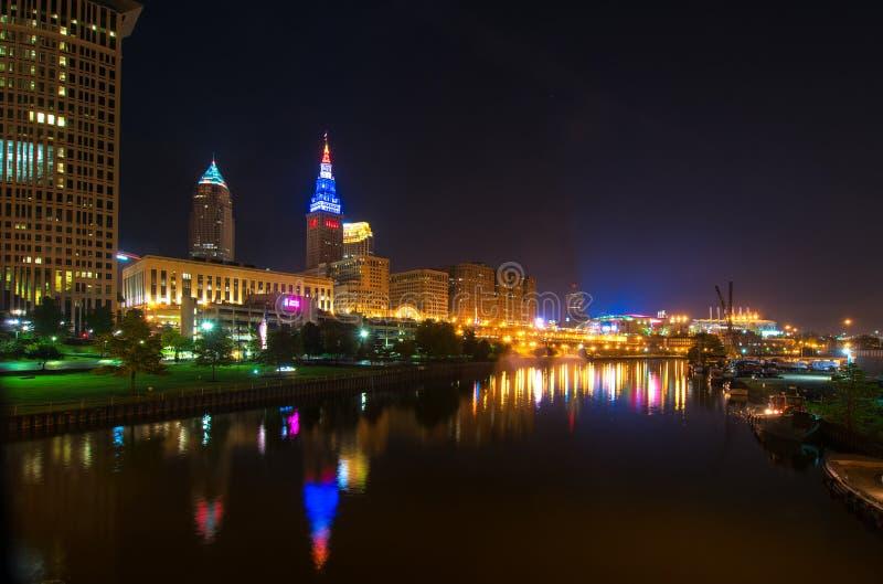 Cleveland embrasé images stock