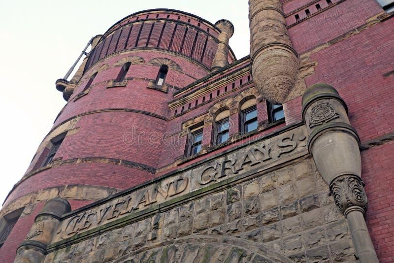 Cleveland Grays Armory à Cleveland du centre, Ohio, Etats-Unis photos libres de droits