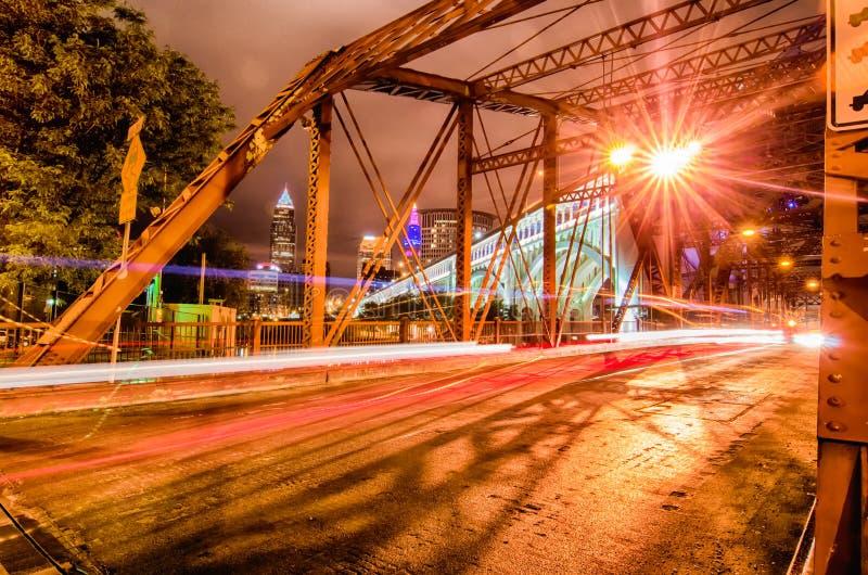 Cleveland Image de Cleveland du centre photographie stock libre de droits