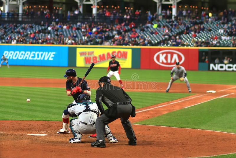 Cleveland Indians Baseball game. Cleveland Indians Major League Baseball game at Progressive Field in Cleveland , Ohio, USA stock photography