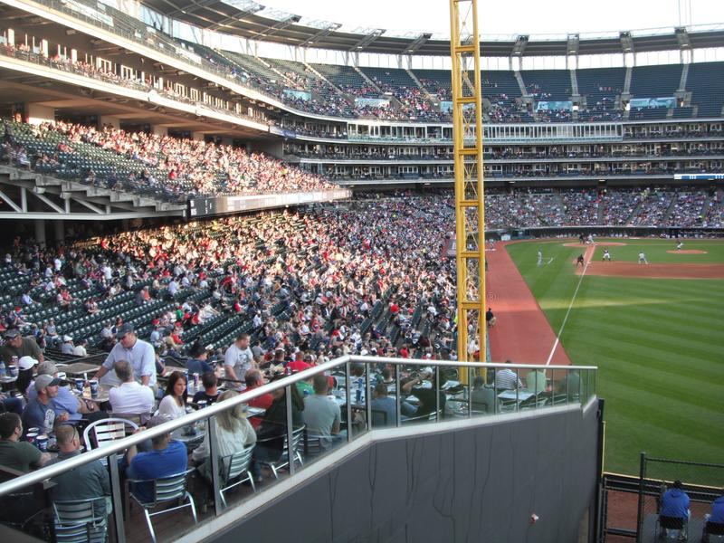 Cleveland Indians på det progressiva fältet arkivfoto