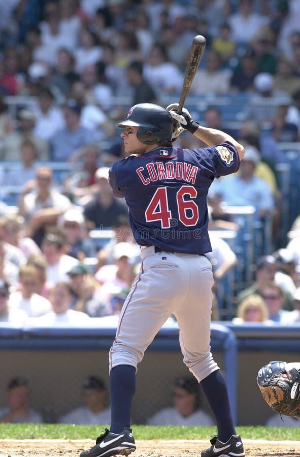 Cleveland Indians slugger Marty Cordova. Cleveland Indians batter Marty Cordova royalty free stock photos