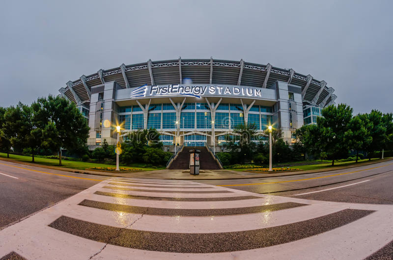CLEVELAND - JUNE 23,2014: FirstEnergy Stadium exterior view in royalty free stock photo