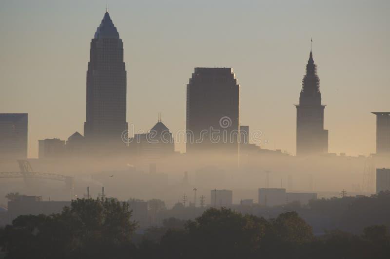 cleveland mgła zdjęcia stock