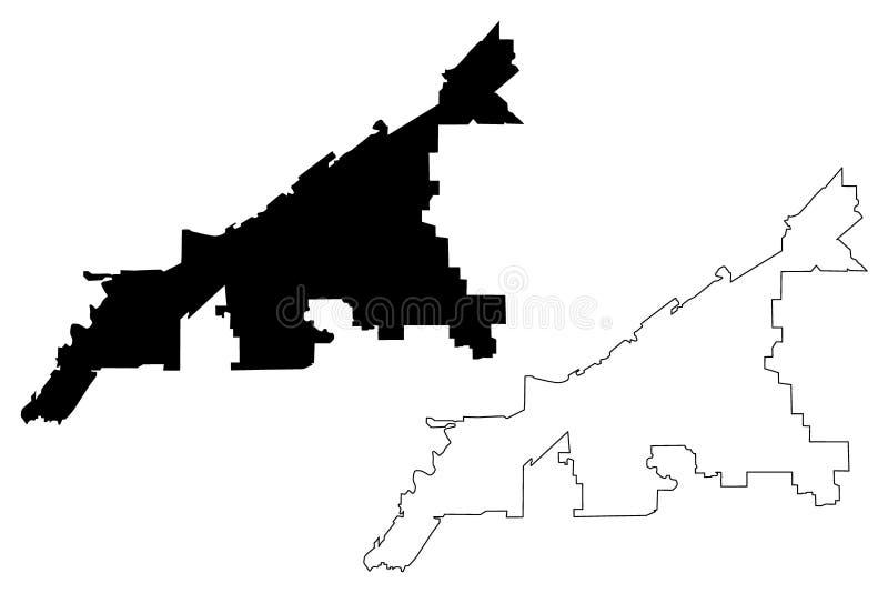 Cleveland miasta mapy wektor ilustracji