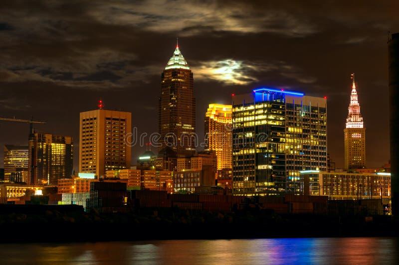 Cleveland moonscape royaltyfri bild