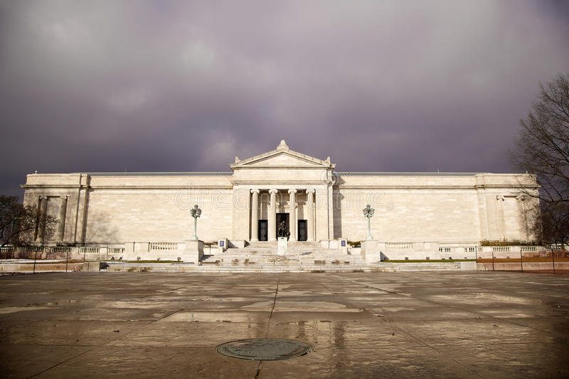 Cleveland Museum of Art. Near the Reflecting Pool and University Circle stock photography