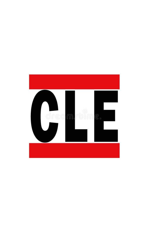 Cleveland, Ohio illustration stock