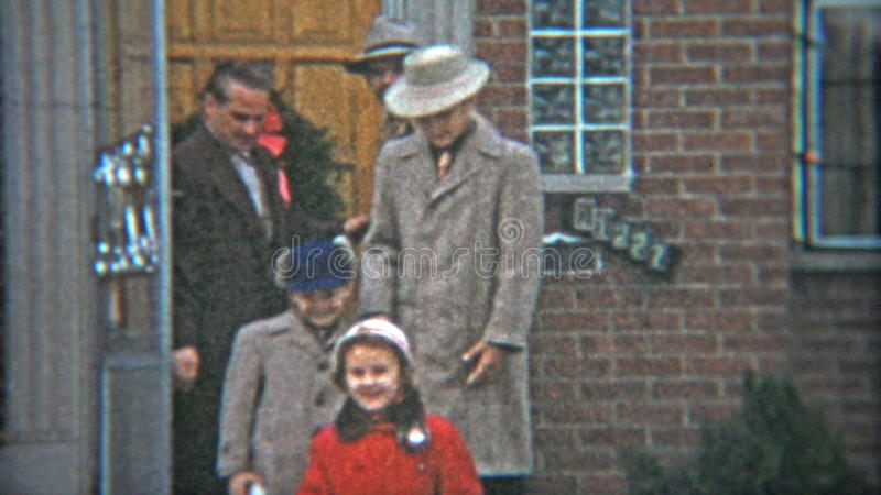cleveland ohio 1953 gangster fashion dressed up family leaving
