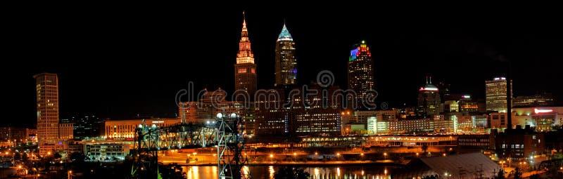 Cleveland Ohio Skyline royalty-vrije stock afbeelding