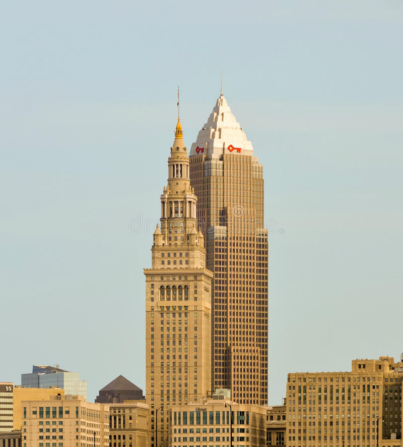 Free Cleveland Ohio Skyscrapers Royalty Free Stock Image - 99170316