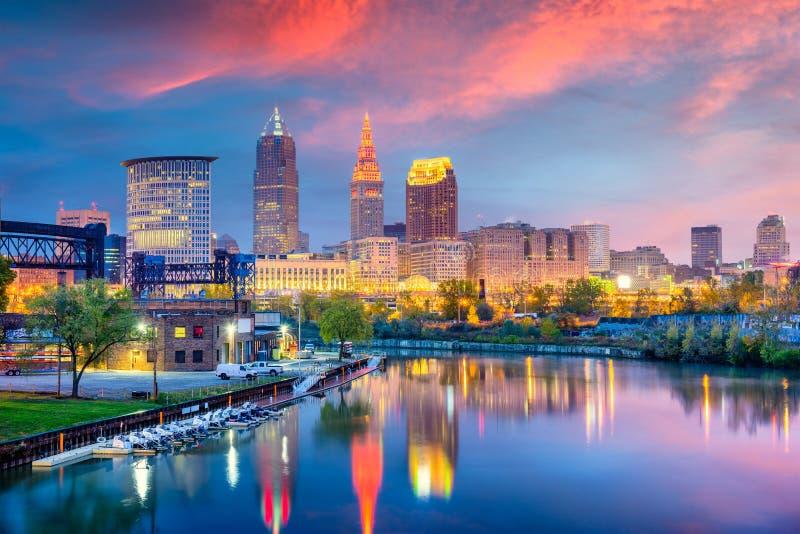 Cleveland, Ohio, usa linia horyzontu obraz royalty free