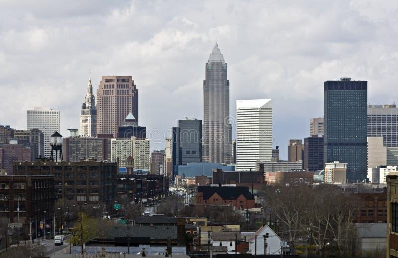 Cleveland opacifie au centre ville plus de photographie stock libre de droits