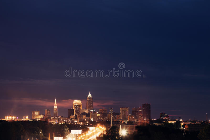 Cleveland - opinión del horizonte fotos de archivo libres de regalías
