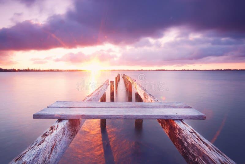 Cleveland Pier royalty-vrije stock fotografie
