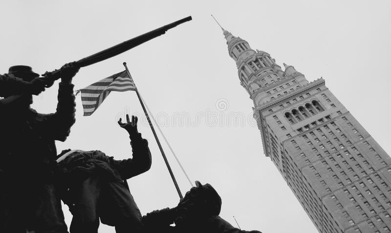 Cleveland plac i Śmiertelnie wierza fotografia royalty free