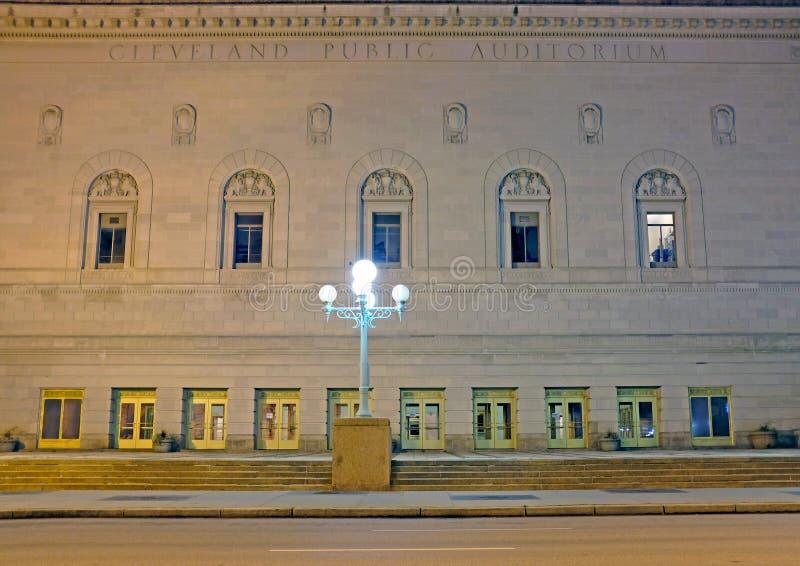 Cleveland Public Auditorium sur l'avenue de Lakeside à Cleveland du centre, Ohio est un lieu de rendez-vous historique d'événemen images stock