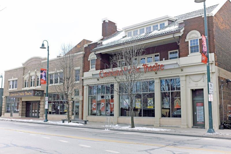 Cleveland Public Theatre på den Detroit avenyn i Cleveland, Ohio, USA royaltyfria foton