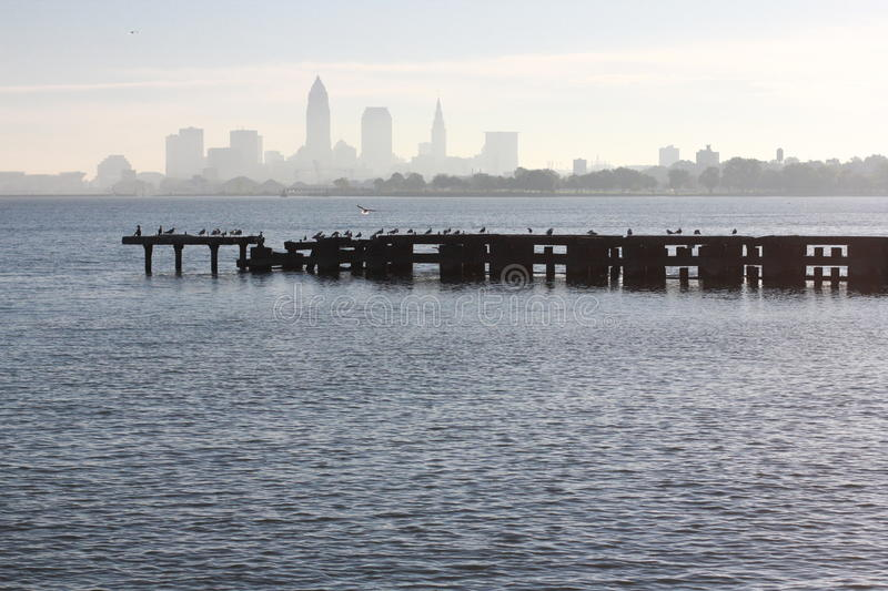 Cleveland's Edgewater Park stock photography