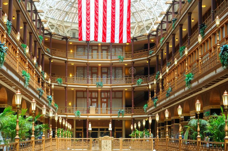 Cleveland's Old Arcade royalty free stock photography